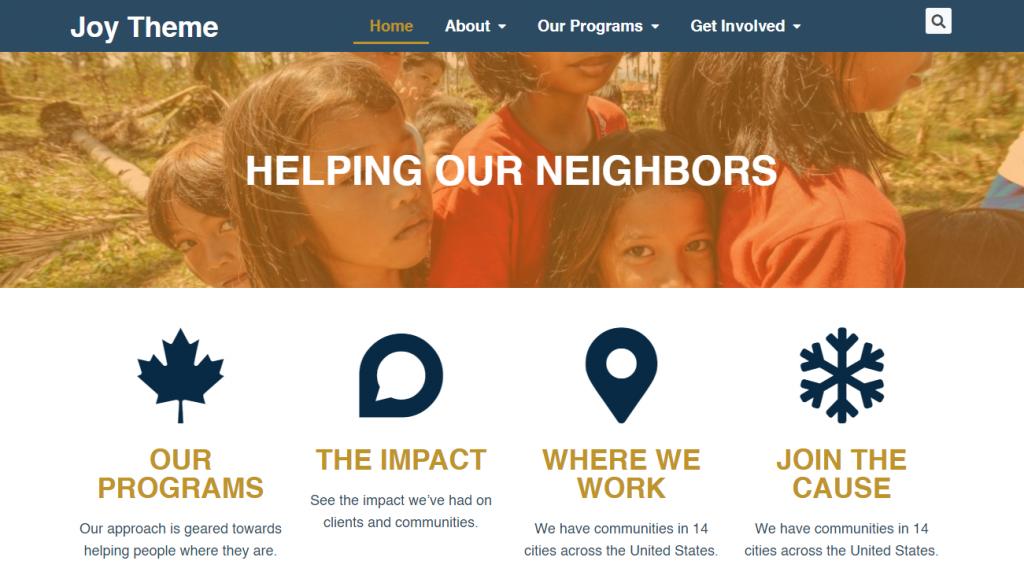 Nonprofit Joy Theme